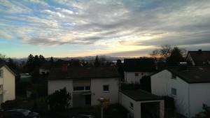Da steht man doch morgens gleich viel lieber auf! Bodensee mit Blick auf die Alpen